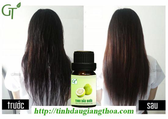 Tinh dầu bưởi có tác dụng kích thích tóc mọc nhanh