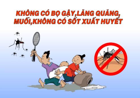 Các để phòng bệnh sốt xuất huyết là tránh bj muỗi đốt