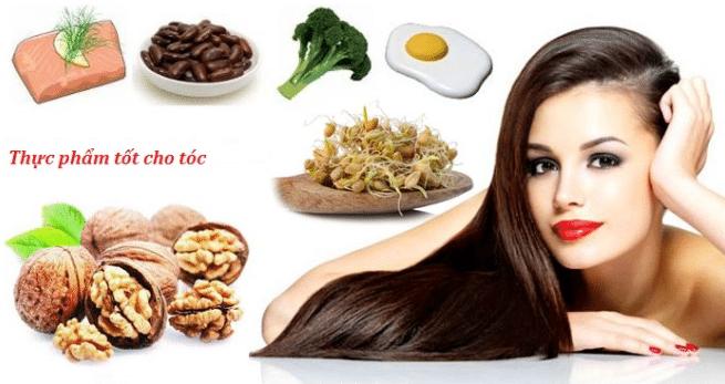 Bổ sung thường xuyên các loại thực phẩm tốt cho tóc