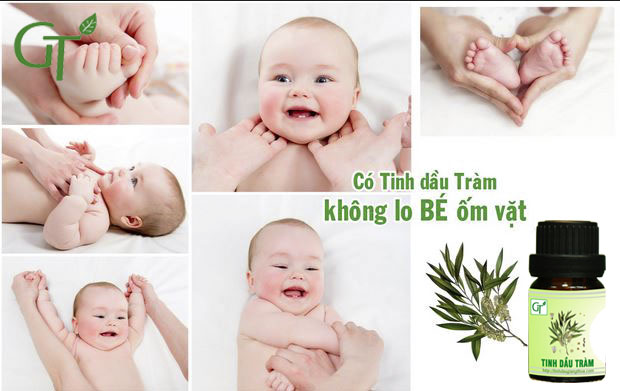 Sử dụng tinh dầu tràm mỗi ngày ngay từ khi sinh sẽ giúp tăng cường đề kháng cơ thể, trẻ không hay bị ốm vặt