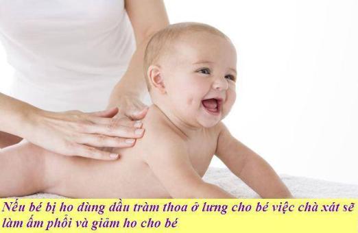 Sử dụng tinh dầu tràm để trị ho cho trẻ sơ sinh